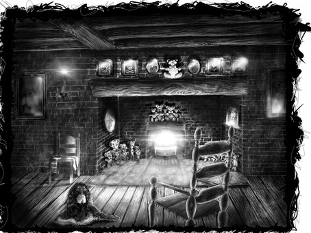 Drawing the inside of the Inn.