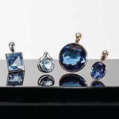 Memento Ocean Sapphire Diamond Cut Gemstones