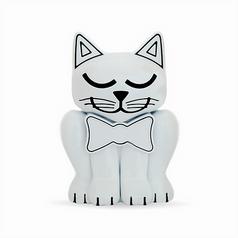 White Kitten Pet Memory Urn