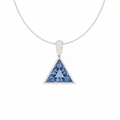Memento Ocean Sapphire Diamond Cut Pendant