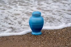 Urnature Nix Blue Biodegradable Urn