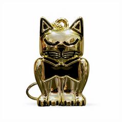 Gold Kitten Keychain