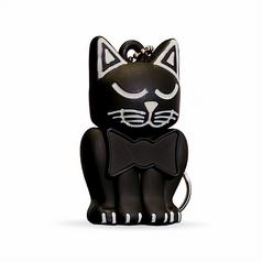 Black Kitten Keychain