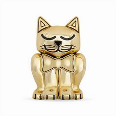 Gold Kitten Pet Memory Urn
