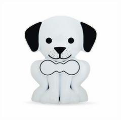 Whiite Puppy Pet Memory Urn