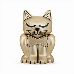 Matte Gold Kitten Pet Memory Urn