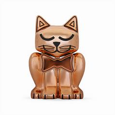 Rose Gold Kitten Pet Memory Urn