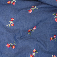 Denim Embroidery T48483-02