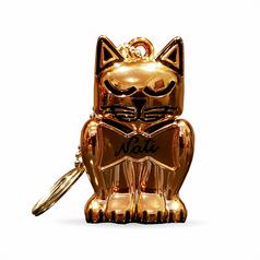 Rose Gold Kitten Keychain