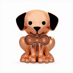 Rose Gold Puppy Pet Memory Urn