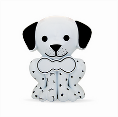 White Painted Puppy Pet Memory Urn