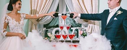Горка шампанского на свадьбу