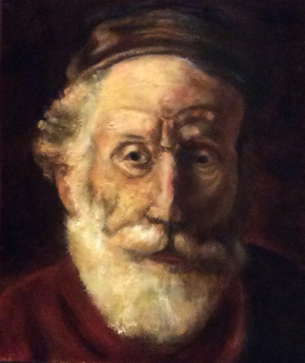 "Rembrandt Oil Study for NSP course-- 20""x24"" Oil on board. ©L.Cirenza"