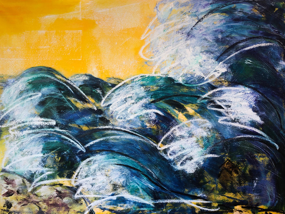 Cliff Claws Oils on 92 x 122 cm canvas
