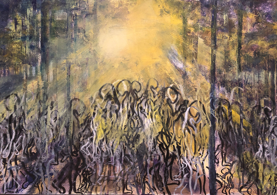 """""""Lost in the Trees-Missing the Forest"""" (Oils on 51 x 61cm board)"""