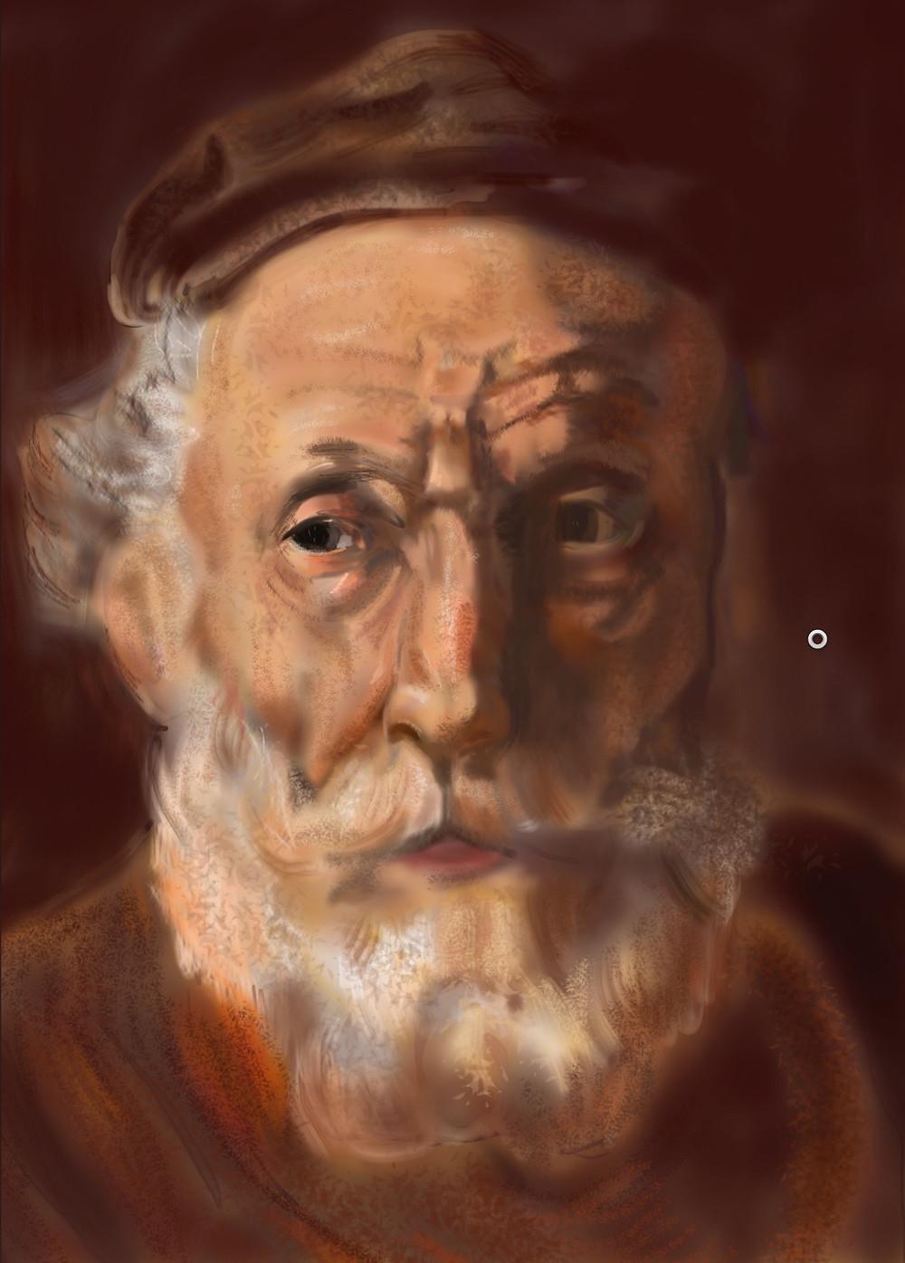 iPad Rembrandt study to prepare for NSP Masterclass. ©L.Cirenza