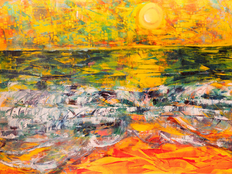 Heat Waves 56 x 76 cm Oils on Board