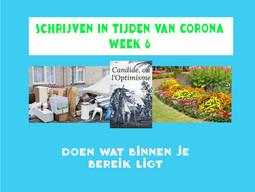 SCHRIJVEN IN TIJDEN VAN CORONA (week 6)