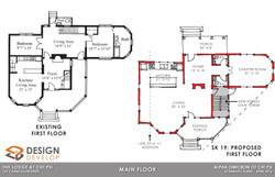 Main Level Existing and Proposed