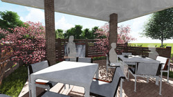 Patio Towards Water Feature