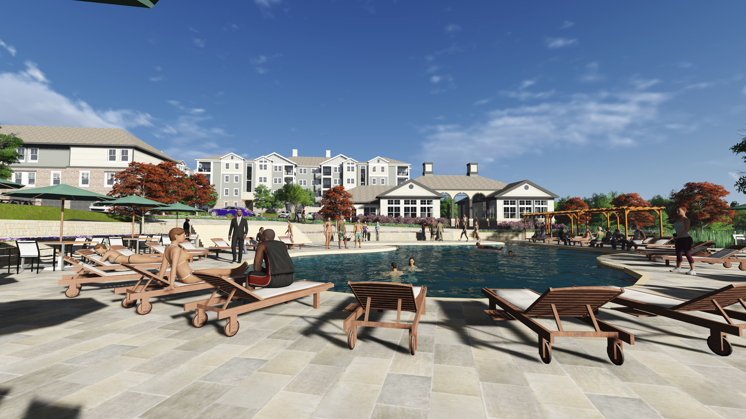 Poolside Looking Towards Clubhouse