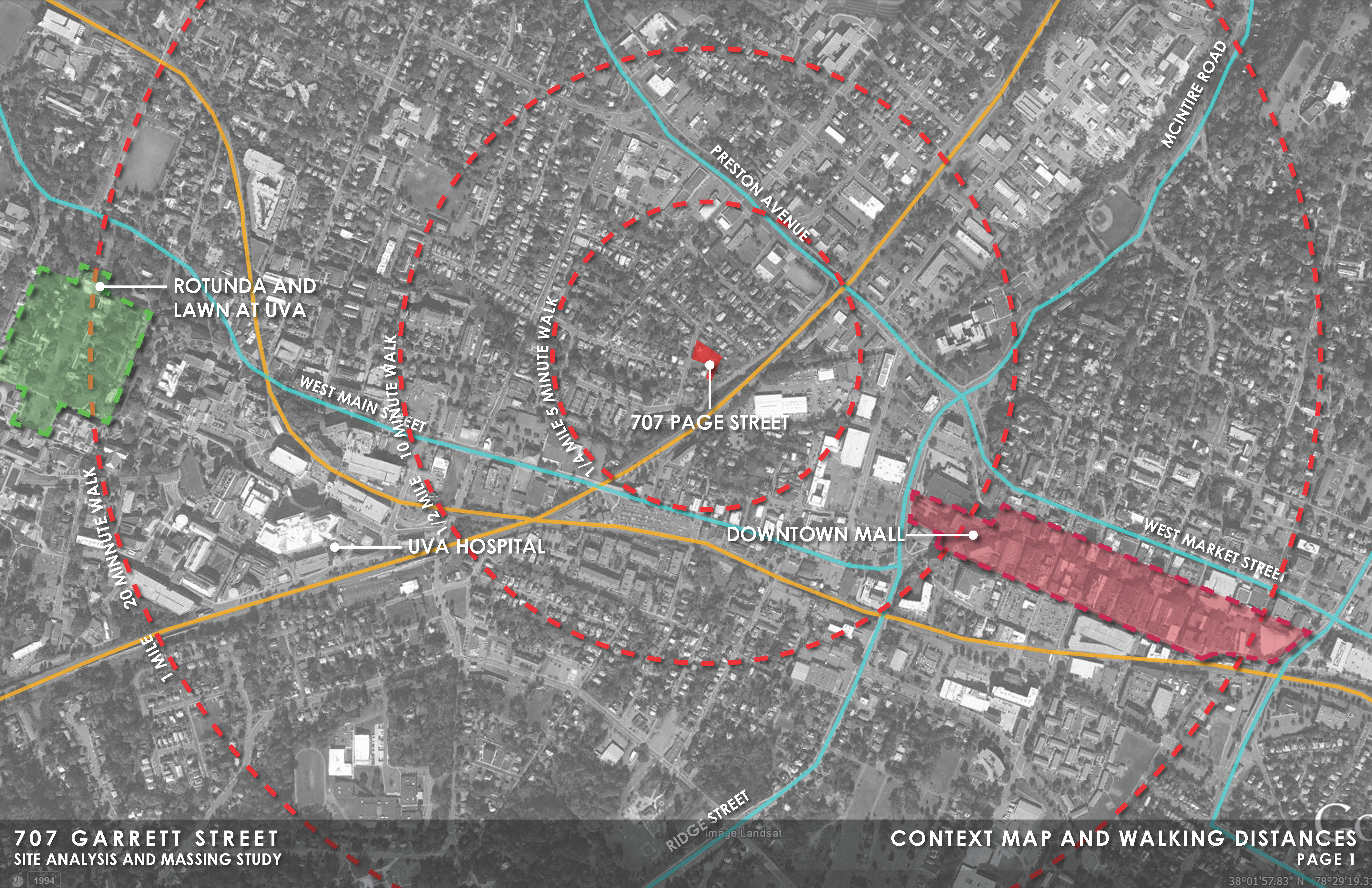 Context Map and Walking Distances