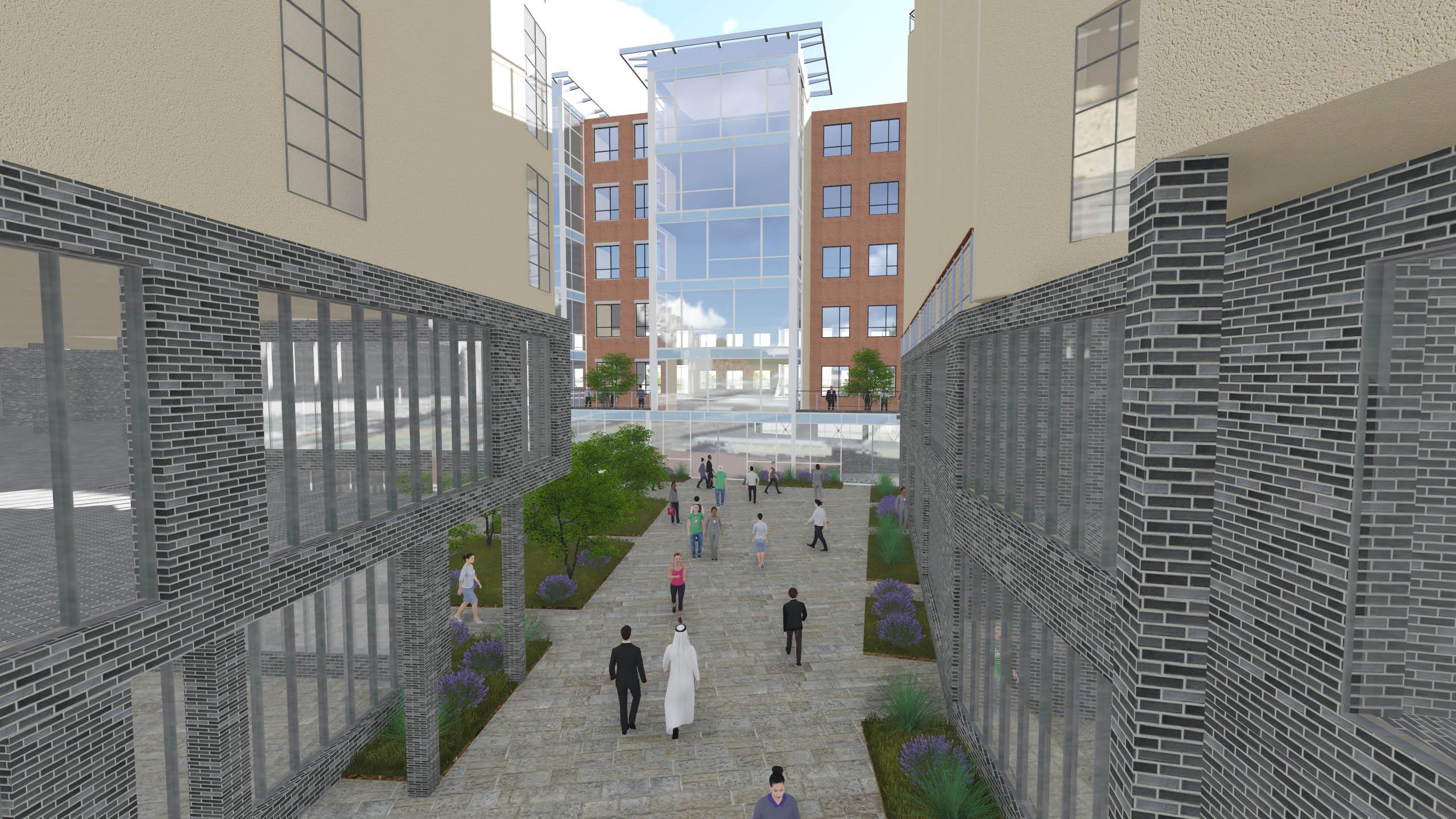 Interior Pedestrian Plaza