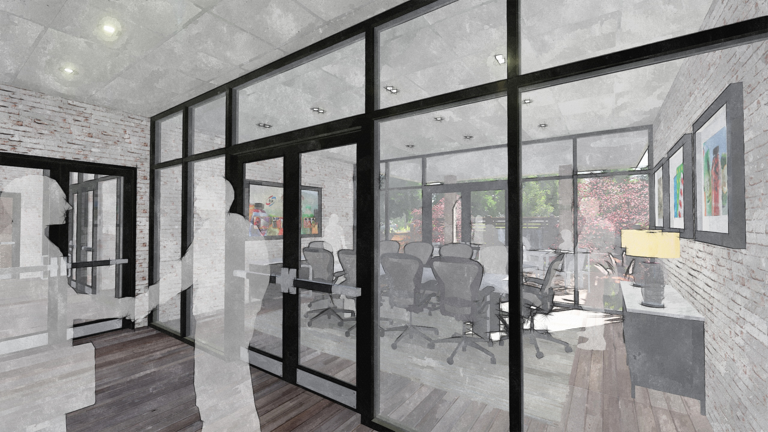 Hallways Outside Conference Room