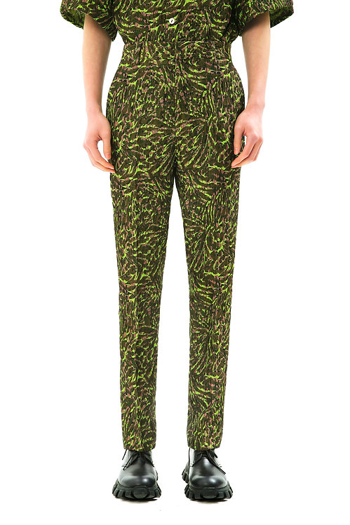Recycled Green Slim-Fit Pants