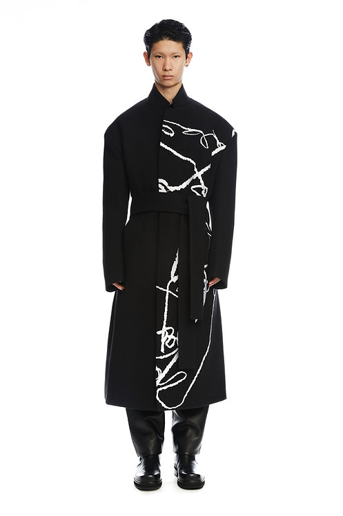 Black Embroidered Coat