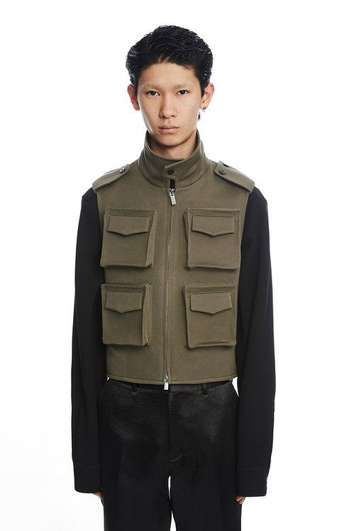Army Green Pocket Vest