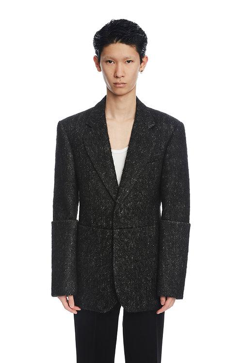 Black Tweed Blazer
