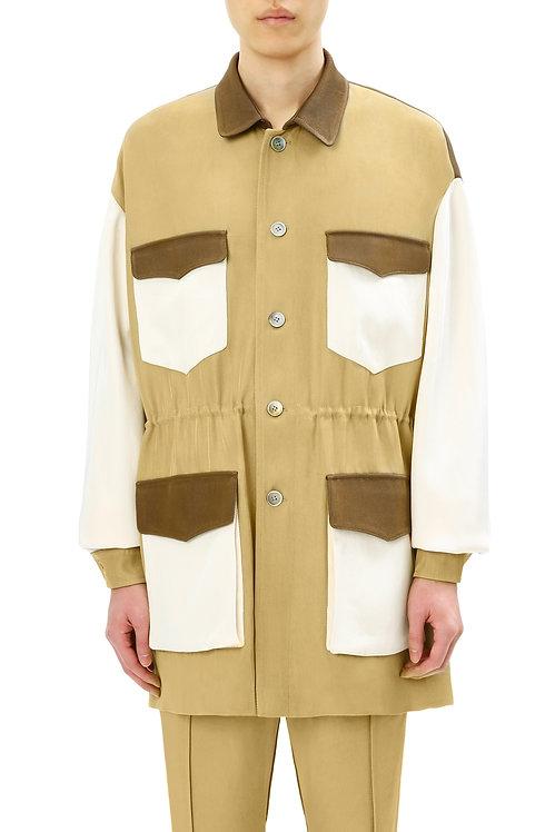 Sandy & Brown Multi-Pocket Coat