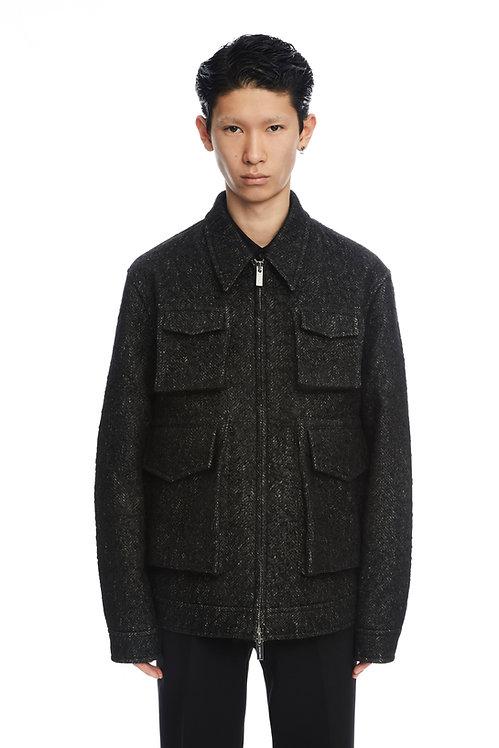 Black Tweed Pocket Jacket