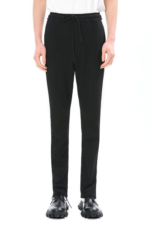 Black & White Cotton Straight Pants
