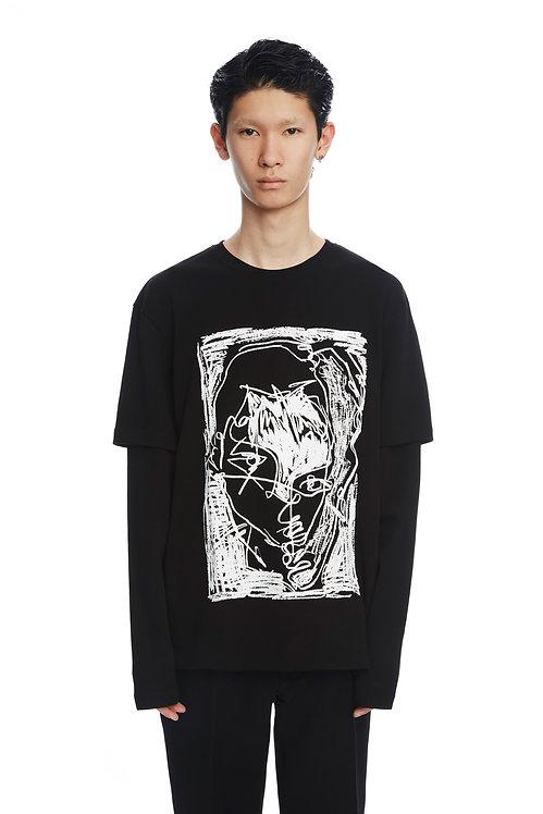 Black Double Sleeve Sweatshirt
