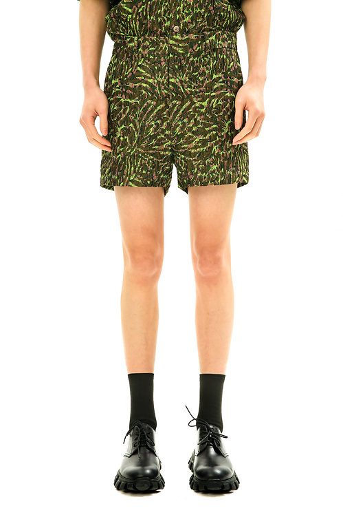 Recycled Green Slim Shorts
