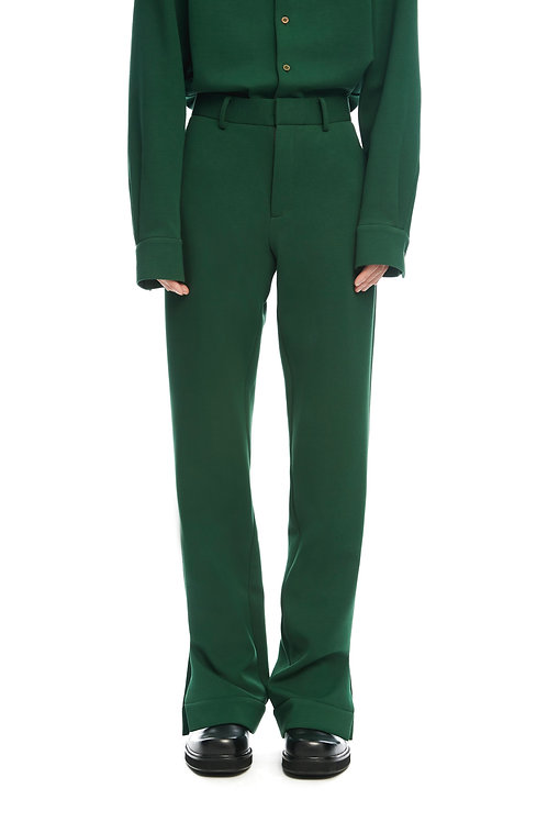Dark Green Soft Trousers