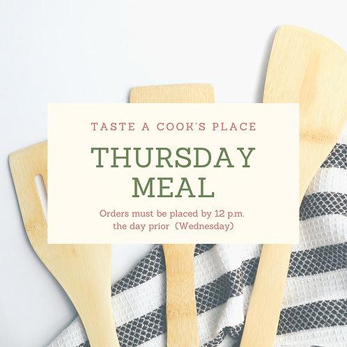 Thursday Meal Order