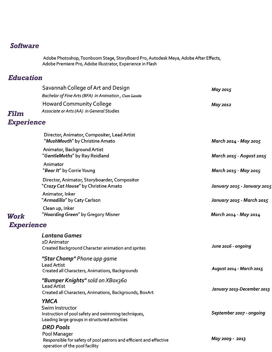christineamato resume resume