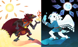 fire and ice birds