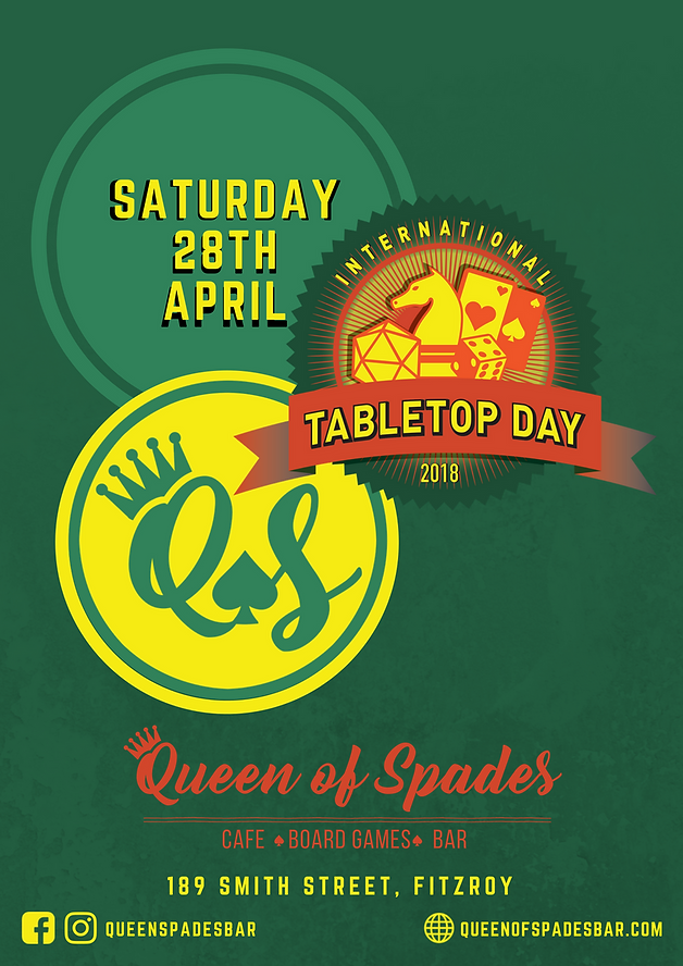 International Tabletop Day 2018 poster.
