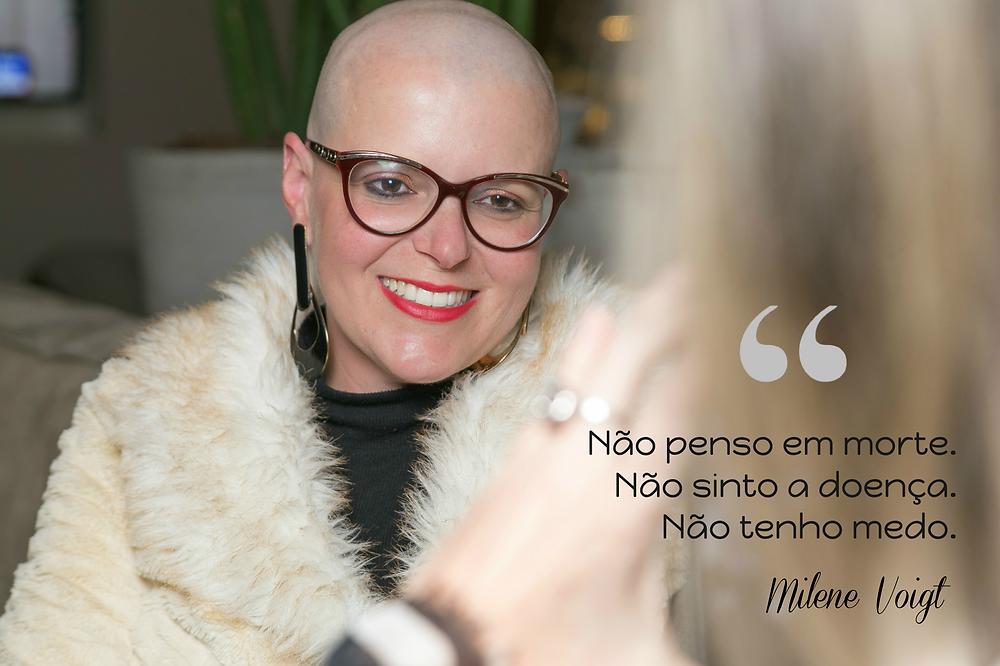 milene voigt fala de câncer