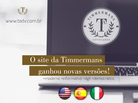 Site da TADV ganha versão multilíngue