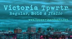 Victoria Typewriter