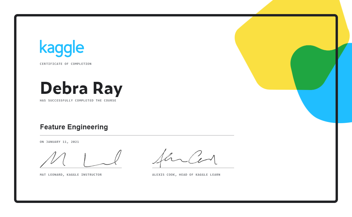 Debra Ray - Feature Engineering
