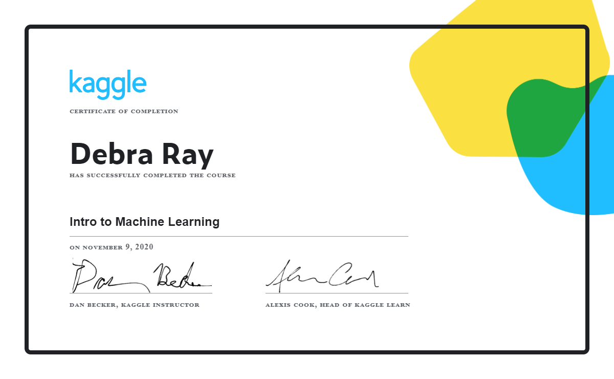 Debra Ray - Intro to Machine Learning