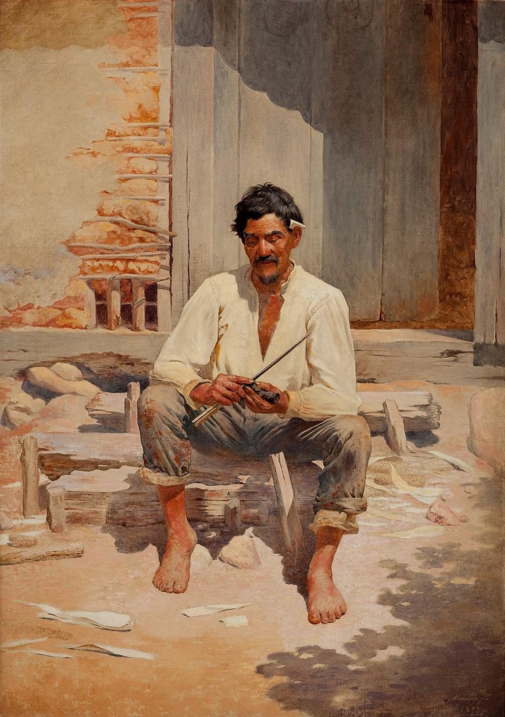 Caipira picando fumo, 1893 | Almeida Júnior (1850-1899)