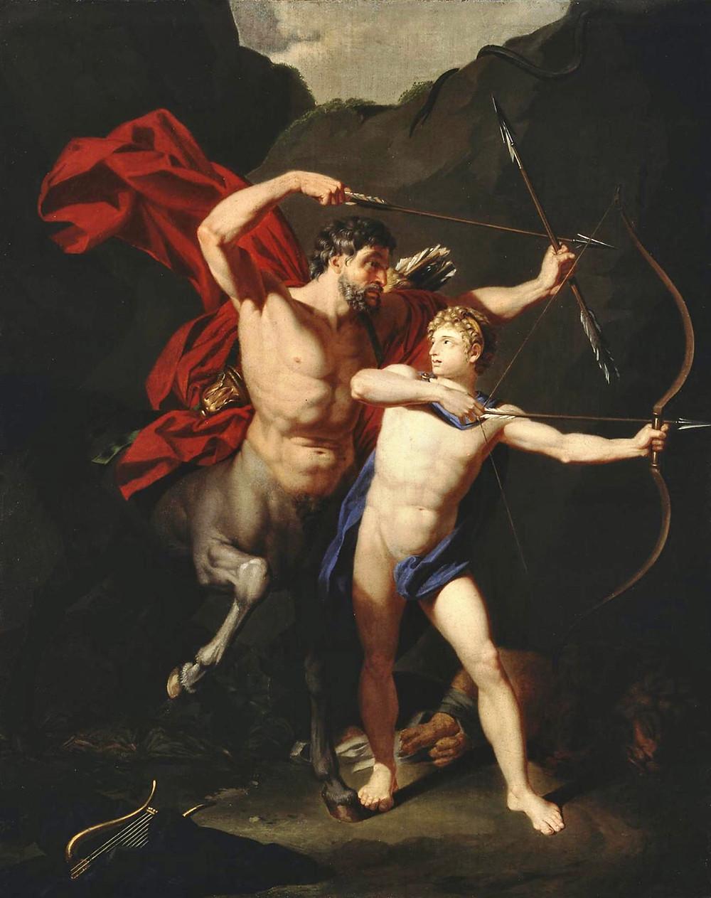Jean-Baptiste Regnault (1754-1829) | Educação de Aquiles pelo centauro Quíron, c. 1782