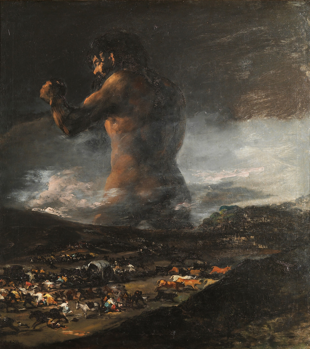 O Colosso, 1808-1812 - Francisco Goya y Lucientes (1746-1828)
